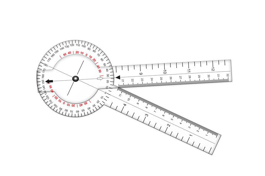 Goni/ómetro y regla con escala de dolor 794 Dopan S.A